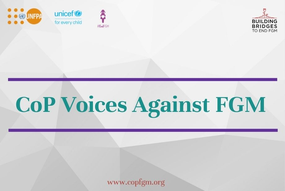 Campaign CoP Voices against FGM